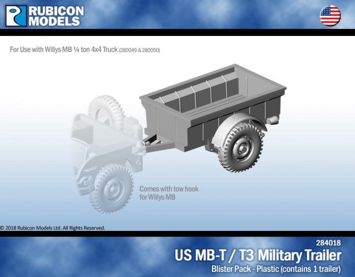 Rubicon - US Jeep MB-T/T3 Military Trailer