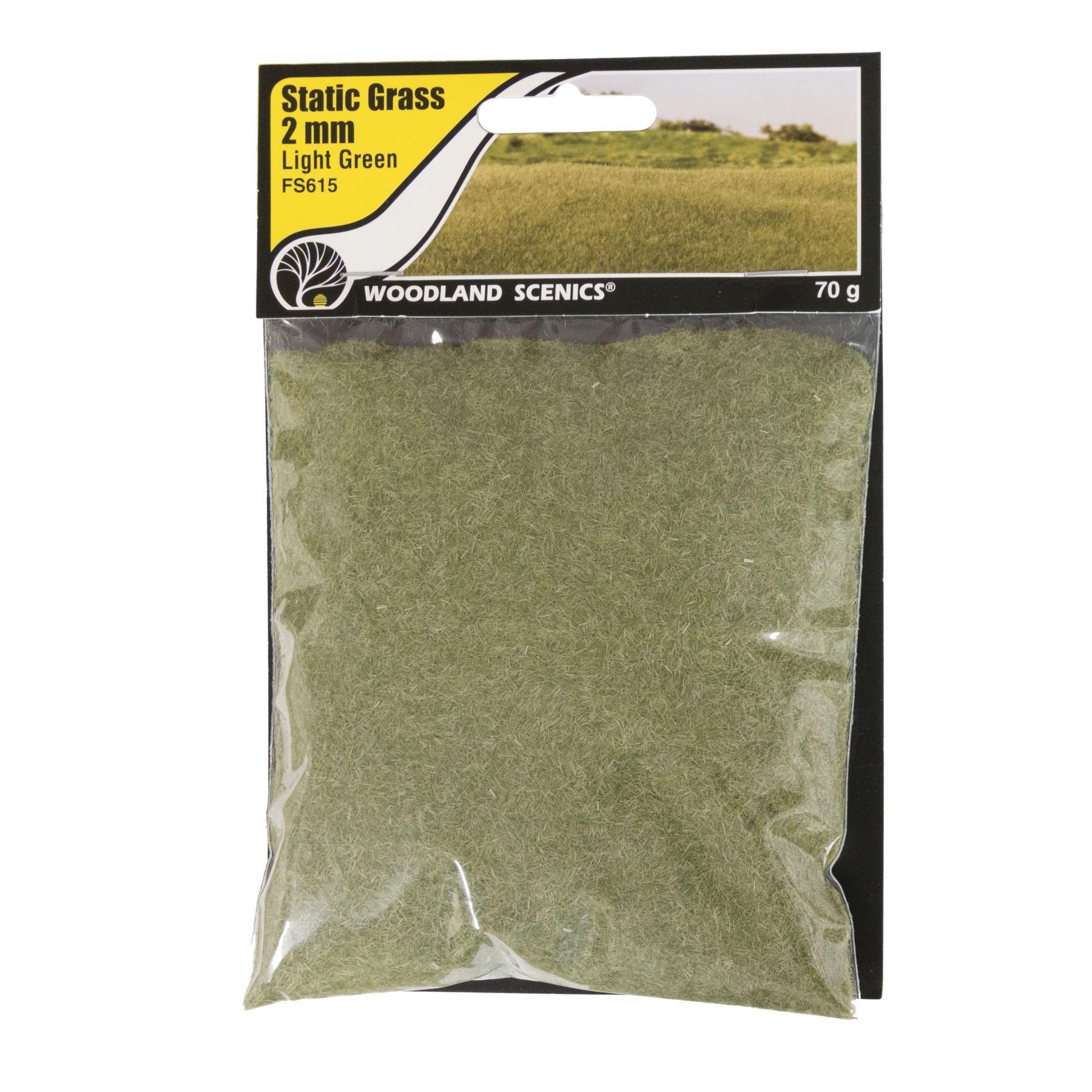 Woodland Scenics - Static Grass, 2mm Light Green