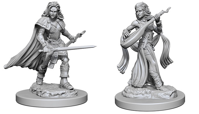 Pathfinder - Deep Cuts Unpainted Miniatures, Human Female Bard